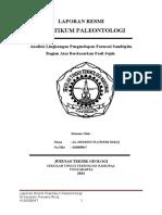 Laporan Praktikum Paleontologi Fosil Jejak