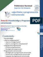 Programación Estructurada y Pseudocódigo