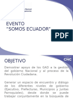 Estrategia Comunicacional Evento SOMOS ECUADOR