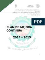 Plan de Mejora 2014-2015 Definitivo