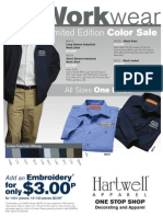 Hartwell Industrial Workwear Promotional Flyer