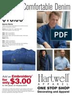 Hartwell Denim Shirts Promotional Flyer