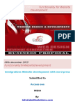 Proposal in Functionality for Website Development Ppt