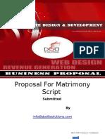 Proposal for Matrimony Script Ppt