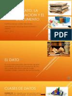 El Dato y La Informacion y Documento 2