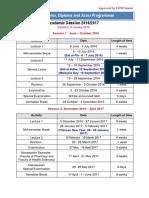 Academic Sessions 2016-2017