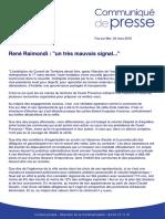 CP - René Raimondi - Election au conseil de territoire - 24 mars 16