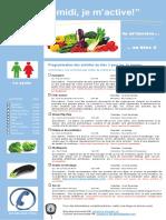 Dépliant Publicitaire Activités Mercredis PM Bloc 3 1e Cycle 2015 2016