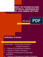10 Management of Gynaecologic and Obstetrical Emergencies