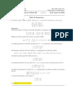 Corrección Examen Final de Cálculo III, 23 de marzo tarde de 2016