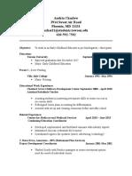 resume andria