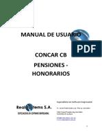 Manual Pensiones Honorarios CONCAR CB 04082014