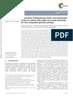 Hierarchical 3-Dimensional Nickel–Iron Nanosheet Arrays on Carbon Fiber Paper as a Novel Electrode for Non-Enzymatic Glucose Sensing
