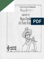 Cancionero de Musica Popular Del Oriente Boliviano