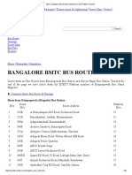 BMTC Bangalore Bus Routes Schedule Services Platform Number