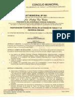 Ley Participación y Control Social, Cercado - Tarija