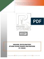 1055H Manuel Pompe Centrifuge
