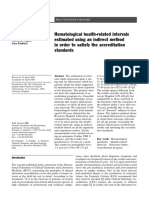 2000 - Hematological Health-related Intervals Estimated Using an Indirect Method in Order to Satisfy the Accreditation Standards