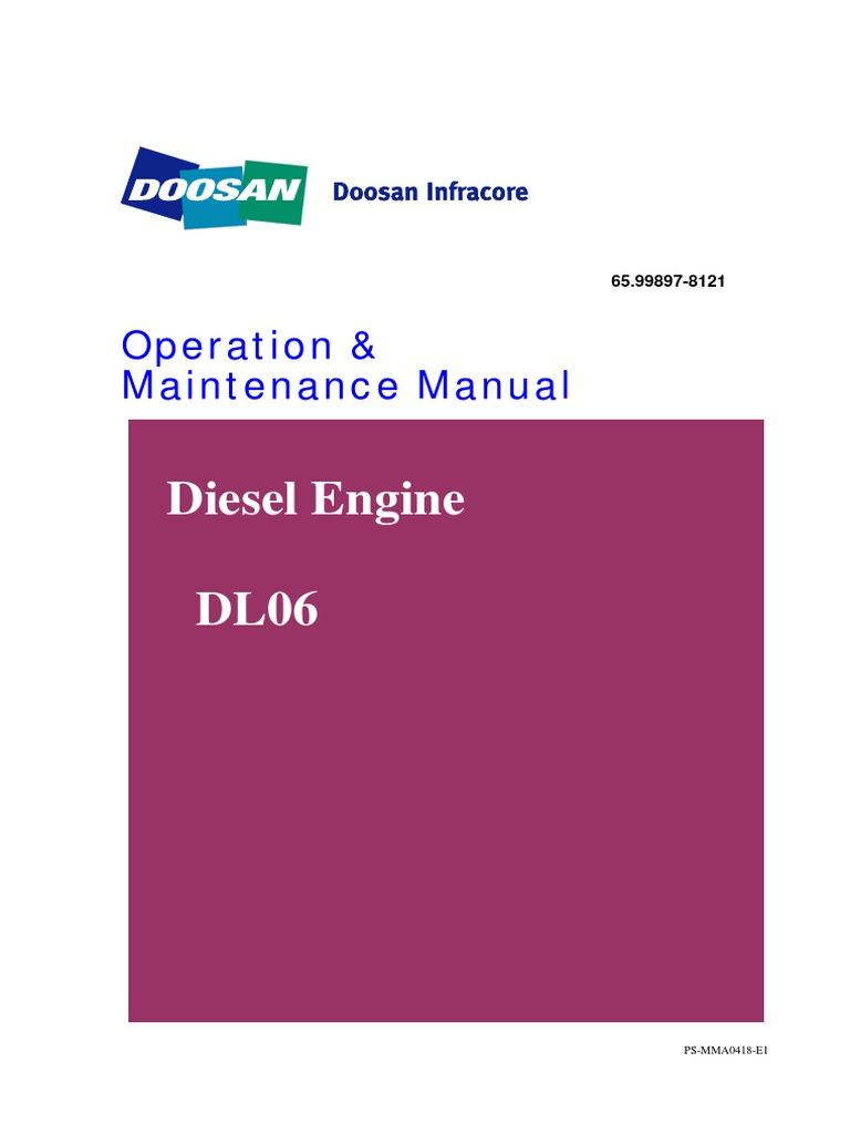 Doosan Diesel Engine Dl06 Internal Combustion Turbocharger Valve Guide Diagram