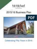 McMichael 2015-16 Business Plan
