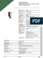 Schneider Electric ATV32H018M2