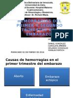 Seminario... Hemorragia de 1 y 2 Trimestre Del Embarazo