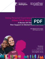 Using Personal Experience