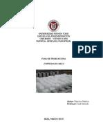 Plan de Produccion Para La Fabrica de Hielo. Mauricio Medina