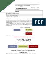 Guia 6 - Funcion SI Excel