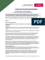 Case Study Practice Exam Answers