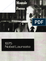 Selected Poems of  Eugenio Montale