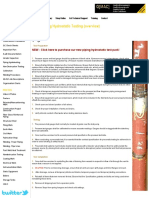Piping Hydrostatic Testing (Overview)