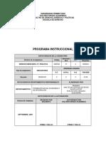 Programa Instruccional Derecho Mercantil II y Practica
