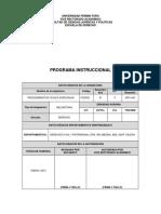 Programa Instruccional Procedimientos Civiles Especiales