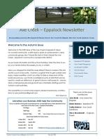 Axe Creek & Eppalock News Issue 50