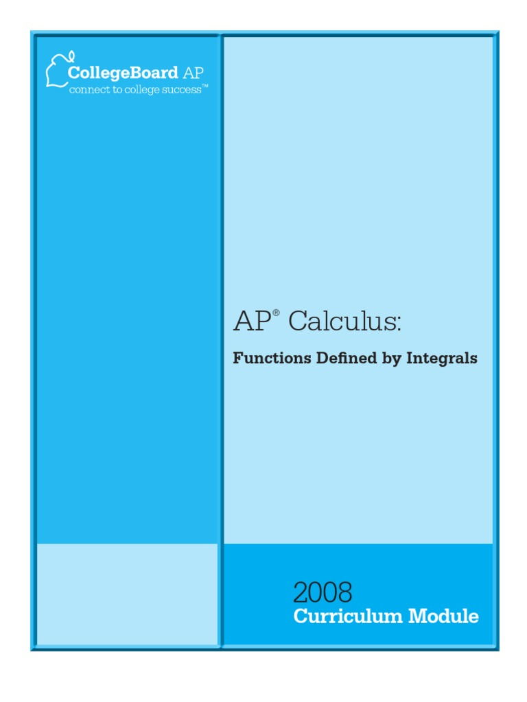 AP_CurricModCalculusFunctionsDefined | Maxima And Minima | Integral