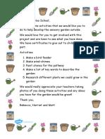 activity letter