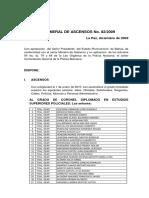 Orden General de Ascensos 2009