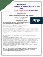 MK0013 Marketing Research