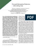 Predicting Personal Information Behaviors             with Lifelog Data