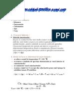 Determinarea Caldurii Specifice a Unui Corp