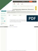Evaluación de Expresiones Algebraicas y Ecuaciones