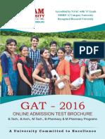 GAT 2016 Brochure