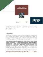 Aportes Cultura Desarrollo Martinell