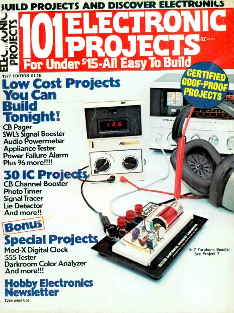 101 Electronics Projects 1977 | Electronic Circuits | Am Broadcasting