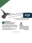 "Eberhardt Press, ""To Print for the Revolution"" -- Exhibit & Event Flyer"