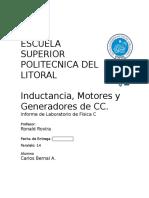 11 Informe de Fisica C Inductancia Motores y Generadores de Cc (1)