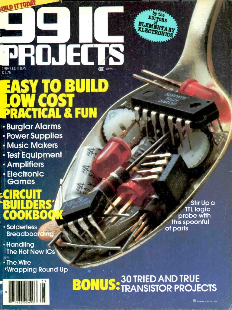 99 Ic Projects 1980 Electronic Circuits Integrated Circuit Led Flasher By 4011 Wiring Diagrams