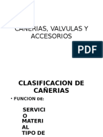 Clase Cañerias, Valvulas y Accesorios