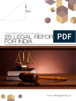 25 Legal Reforms for India